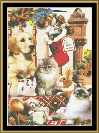 click here to view larger image of Christmas Pals (chart)