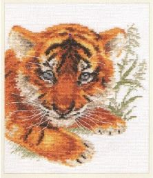 click here to view larger image of Tiger Cub (counted cross stitch kit)