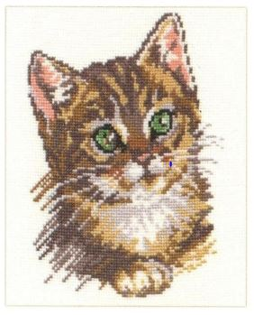 click here to view larger image of Kitten (counted cross stitch kit)
