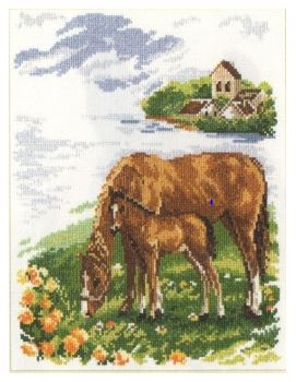 click here to view larger image of Horses (counted cross stitch kit)