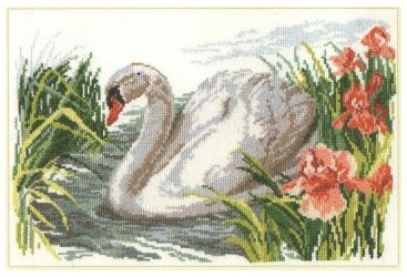 click here to view larger image of White Swan (counted cross stitch kit)