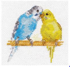 click here to view larger image of Parrots (counted cross stitch kit)