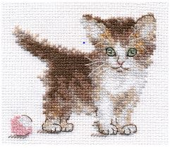 click here to view larger image of Little Kitten (counted cross stitch kit)
