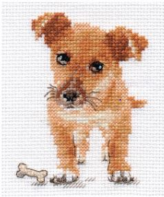 click here to view larger image of Puppy (counted cross stitch kit)