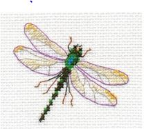 click here to view larger image of Dragonfly (counted cross stitch kit)