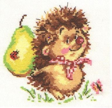 click here to view larger image of Hedgehog (counted cross stitch kit)