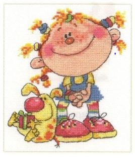 click here to view larger image of Fidget (counted cross stitch kit)