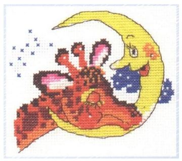 click here to view larger image of Time to Sleep (counted cross stitch kit)
