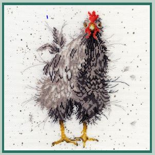 click here to view larger image of Curious Hen (counted cross stitch kit)