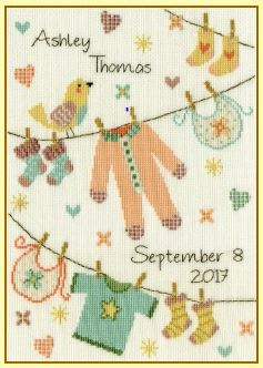 click here to view larger image of Baby Grow (counted cross stitch kit)
