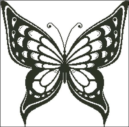 click here to view larger image of Butterfly Silhouette 3 (chart)