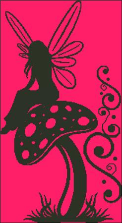 click here to view larger image of Mushroom Fairy Silhouette (chart)