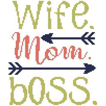click here to view larger image of Sassy Fun Mom - Wife Mom Boss (chart)