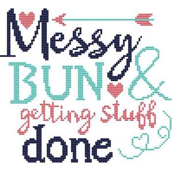 click here to view larger image of Sassy Fun Mom - Messy Bun (chart)