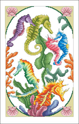 click here to view larger image of Incredible Seahorses (chart)