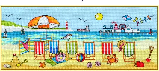 click here to view larger image of Deckchair Fun (counted cross stitch kit)
