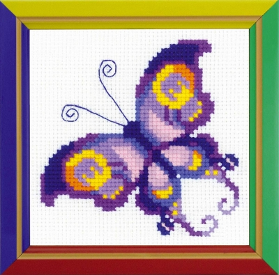 click here to view larger image of Amethyst Butterfly (counted cross stitch kit)
