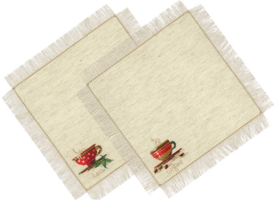 click here to view larger image of Tea and Coffee Napkins (counted cross stitch kit)