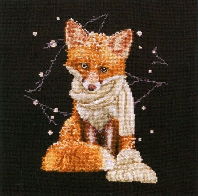 click here to view larger image of Hey There Foxy Lady - On Black (counted cross stitch kit)