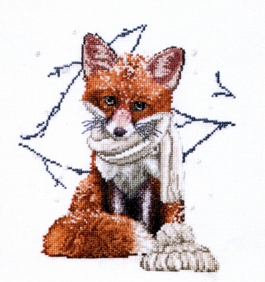 click here to view larger image of Hey There Foxy Lady (counted cross stitch kit)
