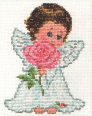 click here to view larger image of Angel of Love (counted cross stitch kit)
