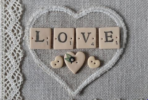 click here to view larger image of Love Button Set (buttons)