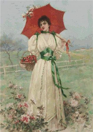 click here to view larger image of Girl With Red Umbrella (chart)