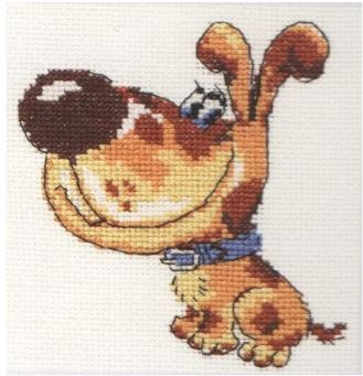 click here to view larger image of Favorite Dog (counted cross stitch kit)