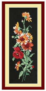 click here to view larger image of Chamomile Bouquet (counted cross stitch kit)