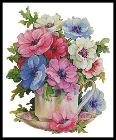 click here to view larger image of Anemone Teacup (chart)