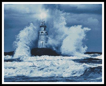 click here to view larger image of Storm And Lighthouse Blue (Large) (chart)