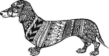click here to view larger image of Tribal Dachshund (chart)