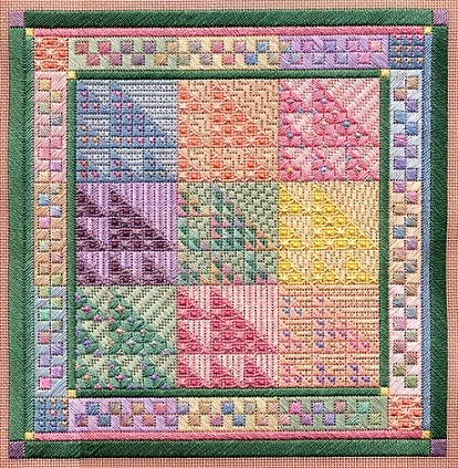click here to view larger image of Color Study - Sawtooth Sampler (counted canvas chart)