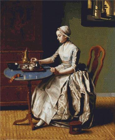 click here to view larger image of Lady Pouring Chocolate, A (chart)