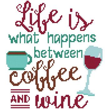 click here to view larger image of Life... Coffee N Wine (chart)