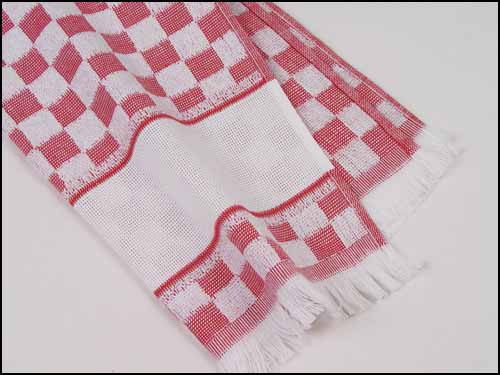 click here to view larger image of Verona Kitchen Towel - Red (stitchable)