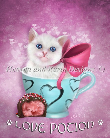 Love Potion Cat - click here for more details about chart