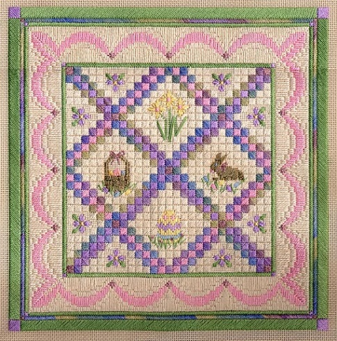 click here to view larger image of Easter/Springtime Quilt (counted canvas chart)