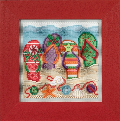 click here to view larger image of Holiday Flip Flops (counted cross stitch kit)