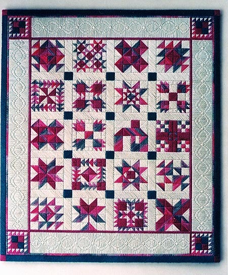 click here to view larger image of Sampler Quilt (counted canvas chart)