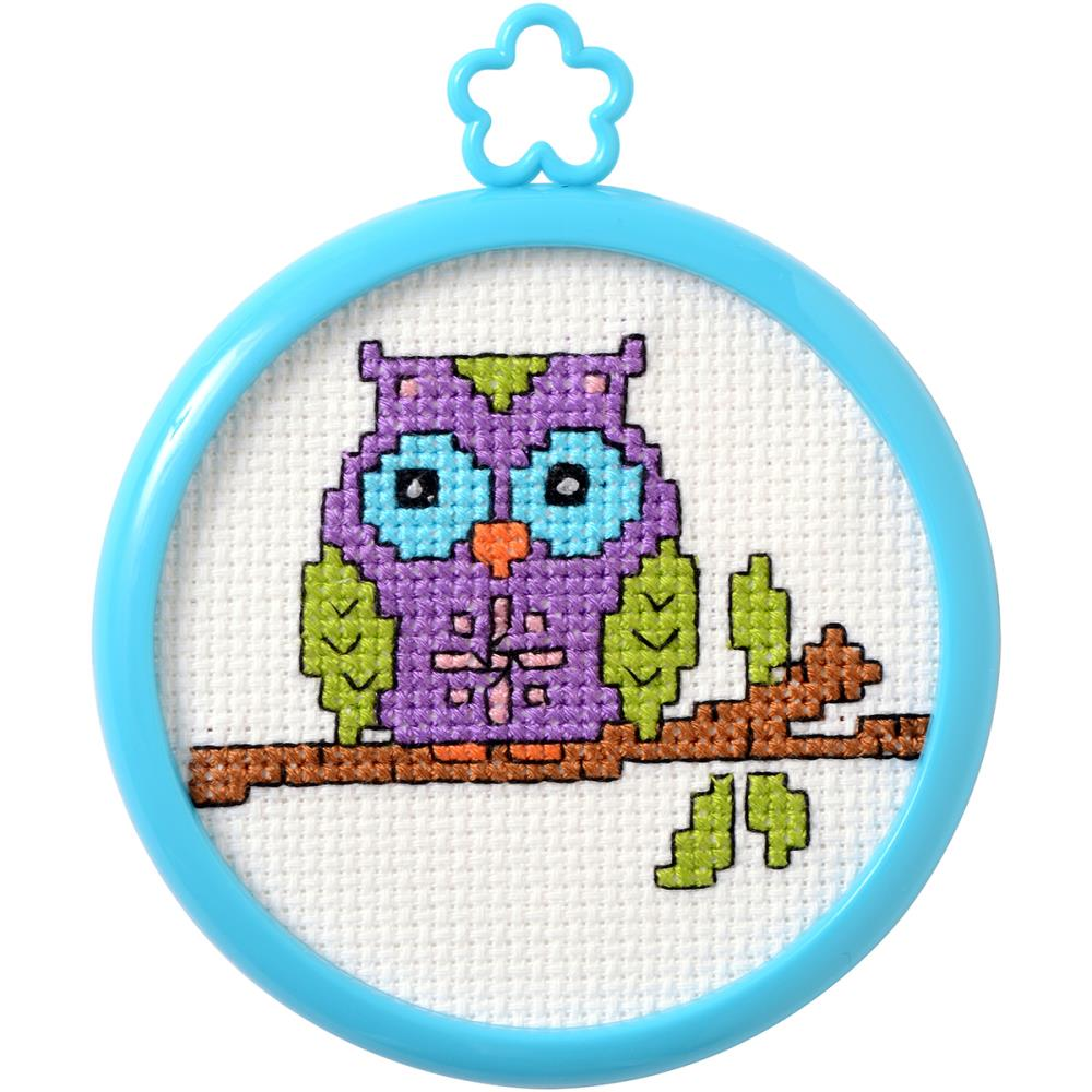 click here to view larger image of My 1st Stitch Owl On A Limb (counted cross stitch kit)