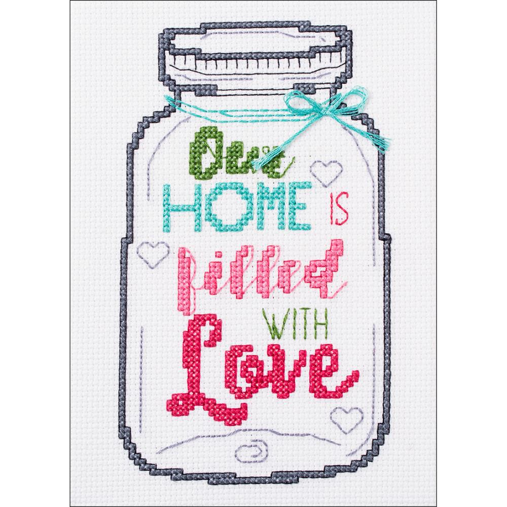 click here to view larger image of My 1st Stitch - Home Mason Jar (counted cross stitch kit)