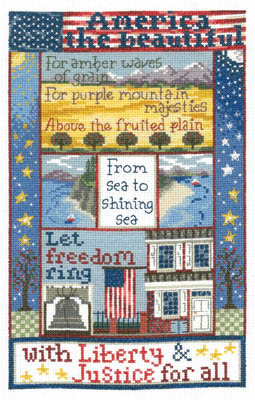 click here to view larger image of Liberty For All - Kit (counted cross stitch kit)