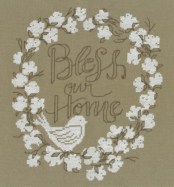 click here to view larger image of Bless Our Home (Kit) (counted cross stitch kit)