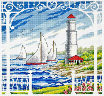 click here to view larger image of Porch Scene - Kit (counted cross stitch kit)