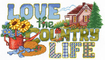 click here to view larger image of Love The Country Life - Kit (counted cross stitch kit)