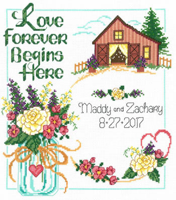 click here to view larger image of Country Wedding - Kit (counted cross stitch kit)