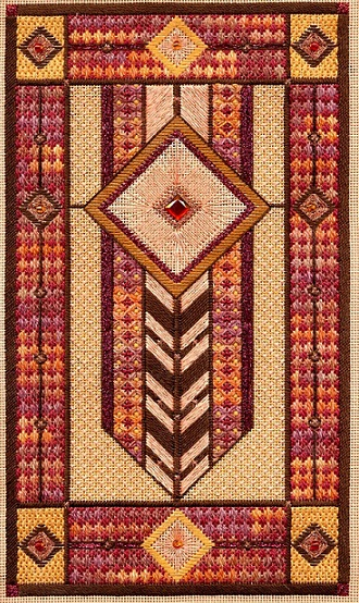 click here to view larger image of Prairie Star (Includes Embellishments) (counted canvas chart)