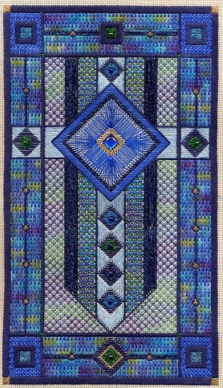click here to view larger image of Sapphire Star (Includes Embellishments) (counted canvas chart)
