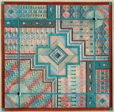 click here to view larger image of Turquoise Trail (Includes Embellishments) (counted canvas chart)